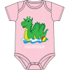 Ogopogo Onesie Light Pink